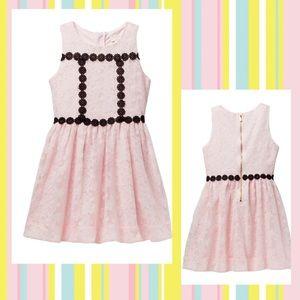 KATE SPADE NY Floral Mesh Dress Pink & Black Sz 12